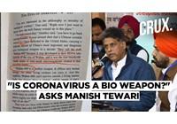 Virus corona - Covid-19: Nhà lãnh đạo Quốc hội đặt câu hỏi liệu coronavirus có phải là vũ khí sinh học không?
