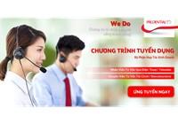 Prudential Tuyển Nhân Viên Tư Vấn & CSKH Qua Điện Thoại [HCM]